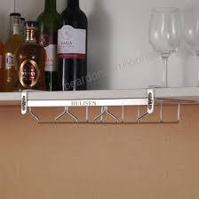 under cabinet wine glass rack. Perfect Under HULISEN FreeInstallation NonSlip Stainless Steel Stemware Glass RackUnder  Cabinet Wine Intended Under Rack