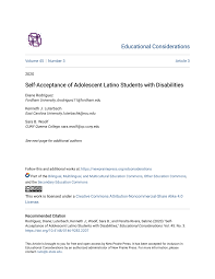 PDF) Self-Acceptance of Adolescent Latino Students with Disabilities