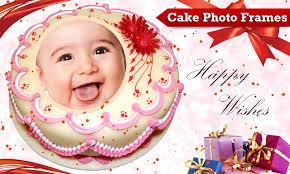 74 Birthday Cake With Photo Frame Name On Birthday Cake Photo