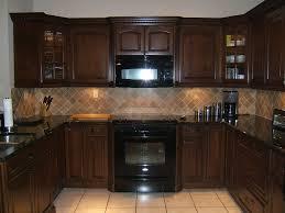 kitchen backsplash cherry cabinets black counter. Kitchen Backsplash Tile Cherry Cabinets Black Counter