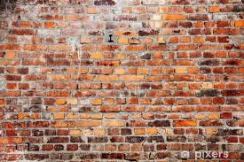 old red brick wall texture background vinyl wall mural life