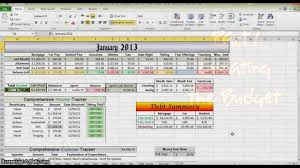 How To Make A Monthly Budget On Excel How To Make A Budget In Excel Part 1 Youtube