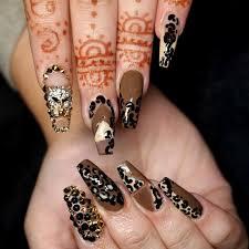 Leopard Print Nail Art Designs Simple Nail Design Ideas 78561 ...