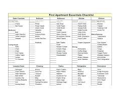 Supplies List Template Apartment Maintenance Cleaning Supplies List For New Checklist