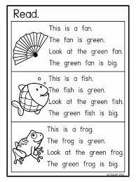 Worksheet for (very) young learners who have just started reading. Pin By Ebony Lankford On Kindergarten Reading Preschool Reading Phonics Reading Reading Classroom