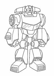 Small Picture Pages Bot Coloring Pages For Kids Printable Free Rescue Bots Angry