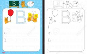 Letter Practicing Worksheet For Practicing Letter Writing Tracing Letter B