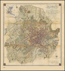 vintage maps wall art best of old map of birmingham circa 1825