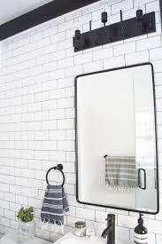 black recessed medicine cabinet. Black And White Bathroom Makeover With Mix Of Modern Vintage Elements Love This Recessed Medicine Cabinet Throughout