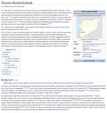 Wikipedia Apparently Disinforms On Doumas Alleged Chemical Weapons