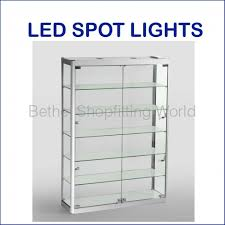 wall mounting led display cabinet