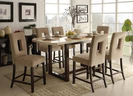 granite top dining tables new high dining room chairs designs