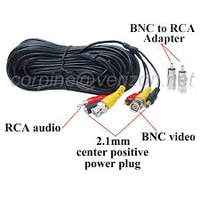 100ft bnc video power cable cctv dvr security camera audio wire package include 1 100ft audio video cable bnc to rca connectors