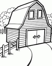 Printable Barn Coloring Page Laptopezine Coloring Home