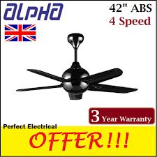 alpha 42 af838 remote control ceiling fan 4 sd black