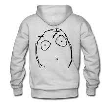 Derp open mouth rage face Hoodie | Spreadshirt via Relatably.com