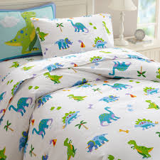 dinosaurland blue green dinosaur bedding twin full queen size comforter set