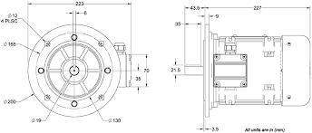 aci pmcb075 ac industrial motors dimensions footleg wiring diagram ac industrial motor aci pmej075 dimensions