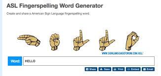Asl Fingerspelling Word Printer