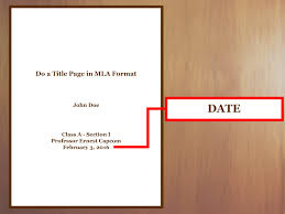 Essay Title Page In Mla Format Homework Example