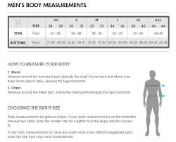 Hurley Apparel Size Charts