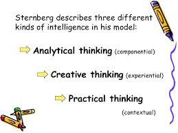 Sternberg Intelligence Sternbergs Triarchic Theory Of Intelligences