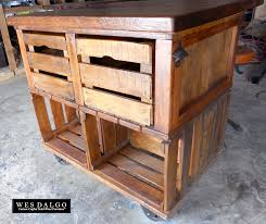 Rustic Kitchen Island Cart Apple Crate Rustic Farmhouse Kitchen Island Cart Crates