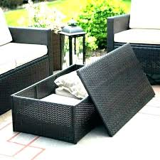 outdoor brown wicker side table resin fisher coffee caspi