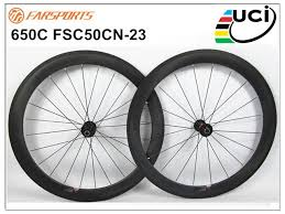 650c Full Carbon Clincher Wheelsets 50mm Deep 23mm Wide High Tg