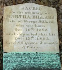 """Martha Elizabeth """"Polly"""" Garrett Dillard (1782-1862) - Find A Grave Memorial"""