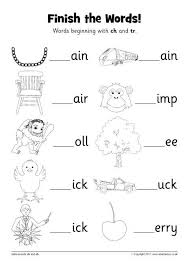Ruled lines, short vowel sounds, consonant digraphs, and words to copy. Finish The Words Worksheets Ch And Tr Sb12228 Sparklebox Ch Words Phonics Worksheets Phonics