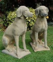 dog garden statue. Exellent Dog Pair Stone Pointer Dog Garden Statues 343 Plus Shipping From UK At  132lbs Each With Statue E