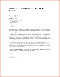 Thank You Letter Template After Job Interview Employment Thank You