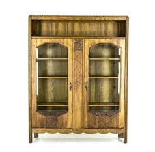 office beveled glass china cabinet antique art 2 door bookcase display with office space meme