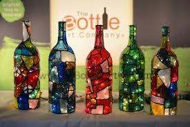 glass bottle art for