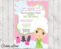 Sassy Spa Party Invitation Spa Party Invite Spa Invitation Spa Party Invitation Spa Birthday Invite Birthday Invitation