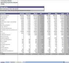 finances excel template business operating expenses excel worksheet