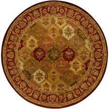 orange and brown area rug chandra metro red orange green brown yellow 8 ft indoor round