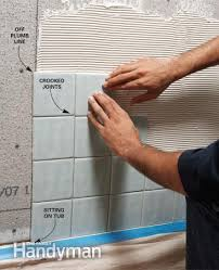 bathroom shower tile layout
