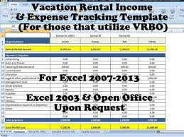 Vacation Rental Income And Expense Tracking Template Short