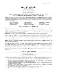 Cover Letter Resume Format For Chemical Engineer Resume Sample For