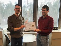 Excellence in Teaching Award Fall 2019 presented to Mr. Nicholas Bruce -  University of Victoria