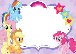 Small Picture Free Printable Invitations My Little Pony party Pinterest
