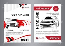 Auto Repair Flyer Set A4 Auto Repair Business Layout Templates Automobile Magazine