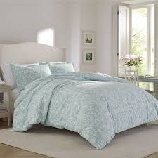 kensington scroll flannel 3 piece duvet set by laura ashley home