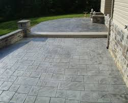 ... Large-size of Robust Green Landscaping Finished For Minimalist Style  Completed Then Stamped Concrete Patio ...
