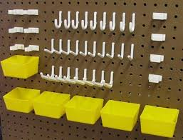 Pegboard storage bins Hardware Pegboard Kits Hooks And Plastic Bins 1595 Free Shipping Pinterest Pegboard Kits Hooks And Plastic Bins 1595 Free Shipping Pegboard