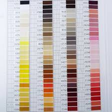 Gutermann Embroidery Thread Chart Real Thread Gutermann Natural Cotton Hand Quilting Shade Chart Guide Swatch