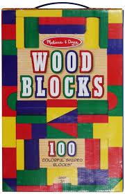 melissa doug 100 piece wood blocks set child safe wooden toys new 1733875280