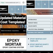 Westcoat Epoxy Color Chart